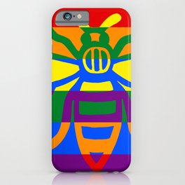 Mark Edz LGBT Geometric Manchester Worker Bee Multicoloured 2020 iPhone Case