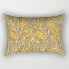 Goldfishes in the Rye Rectangular Pillow