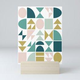 Simple Geometry Shapes Mini Art Print