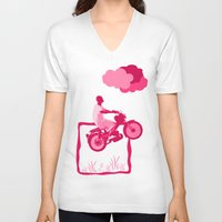 motorbike V-neck T-shirts featuring Motorbike Guy by Sergio Silva Santos