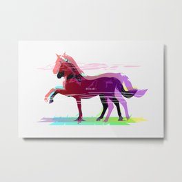 Powerful Horse Metal Print