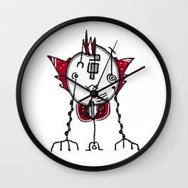 Alien Robot Hand Draw Illustration Wall Clock
