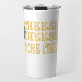 Funny Cheese T-Shirt for people who are addicted to cheese Gouda Buttercheese yellow  Travel Mug