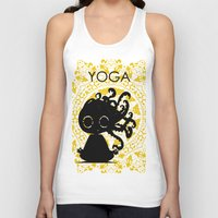 yoga Tank Tops featuring Yoga by BLOOP