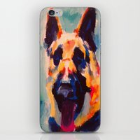 german iPhone & iPod Skins featuring German Shepherd by Heather Hartley