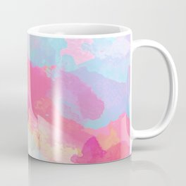 Colorful Abstract - pink and blue pattern Coffee Mug