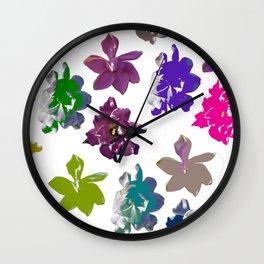 Gardenias in Color [Cecilia Lee] Wall Clock