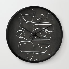 Minimal Abstract Line V Wall Clock