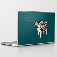 yolo Laptop & iPad Skins featuring YOLO by Huebucket