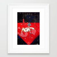 eugenia loli Framed Art Prints featuring space loli ecchi depot 3 by Kira Leigh