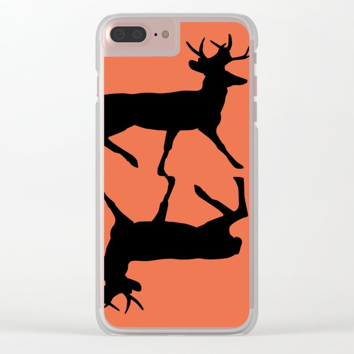 Deer orange Clear iPhone Case
