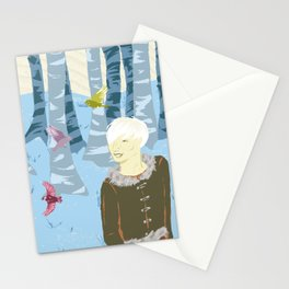 Tritill, Litill and the birds Stationery Cards
