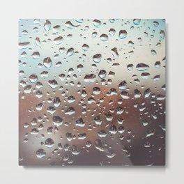 Wet Glass Metal Print
