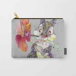 Bunny With flower Carry-All Pouch