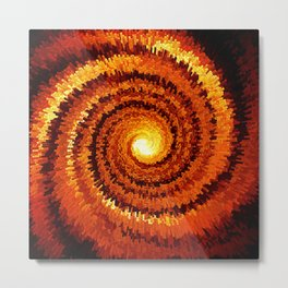 Abstract Spiral Sun Metal Print