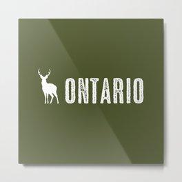 Deer: Ontario, Canada Metal Print