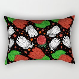 Protea Pattern - Lovely Australian Native Florals Rectangular Pillow