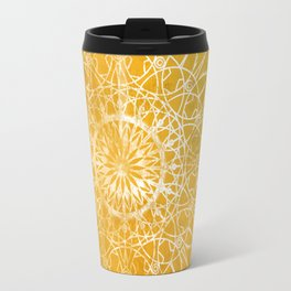 Fire Blossom - Yellow Travel Mug