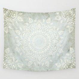 Powder Blue Mandala Wall Tapestry