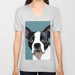 Mendo the Boston Terrier Unisex V-Neck