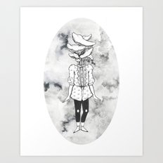 Oyster Mushroom Girl Art Print