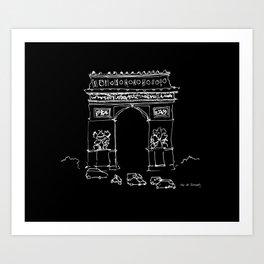 Arc De Triomphe BW Art Print