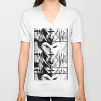 evil queen V-neck T-shirts featuring Evil Queen by Keith Gutierrez
