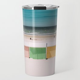 Beach Cabins North Sea Travel Mug