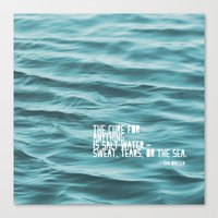 the cure Canvas Prints featuring SaltWater Cure by Christine Hall