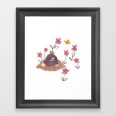 Hello Mole! Framed Art Print