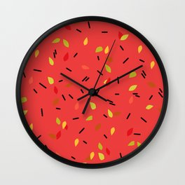 Abstract autumn pattern Wall Clock