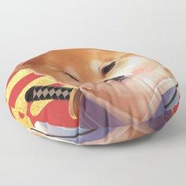Samurai Shiba Floor Pillow