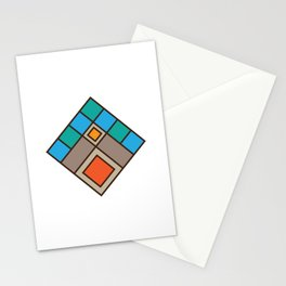Tile Mountain Badge Stationery Cards