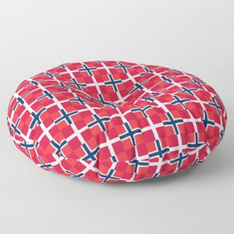 Mix of flag: norway and denmark Floor Pillow