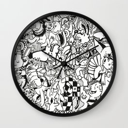 Coloring Page For Literacy Wall Clock