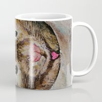 hamster Mugs featuring Hamster Love by Michael Creese
