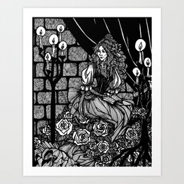 His Angel of Music Art Print