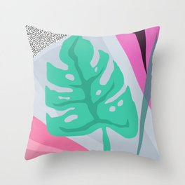 Monstera Deliciosa II Throw Pillow