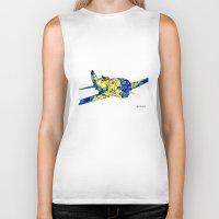 airplane Biker Tanks featuring Airplane by Irina  Mushkar'ova