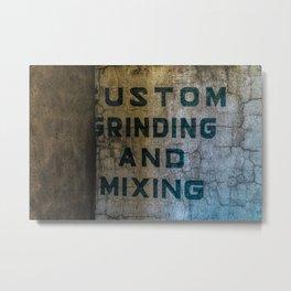 Custom Grinding and Mixing Metal Print