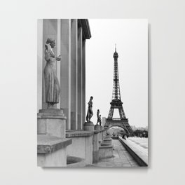 Trocadero Eiffel Tower Paris Metal Print