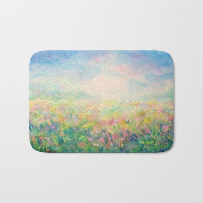 Blue Mystical Spring Bath Mat