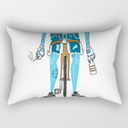 Modern Cyclist #2 Rectangular Pillow