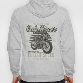 Caferacer Motorcycle Vintage Poster Hoody