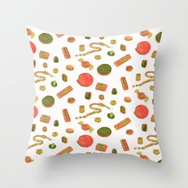 Old Fashioned Boiled Sweets: Alternate Colour by Chrissy Curtin Throw Pillow