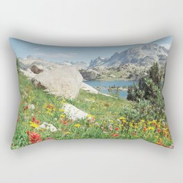 August Wildflowers in the Rockies Rectangular Pillow