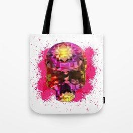 Skull with Crystal Polygon Tote Bag