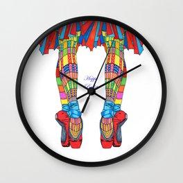 Happy Ballet 5 Wall Clock