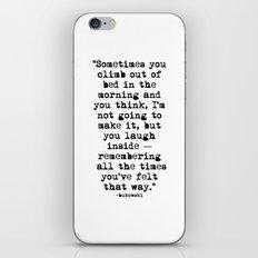 Charles Bukowski Typewriter Quote Morning iPhone & iPod Skin