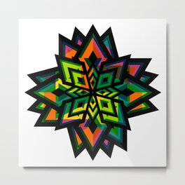 Decorative funky flower Metal Print